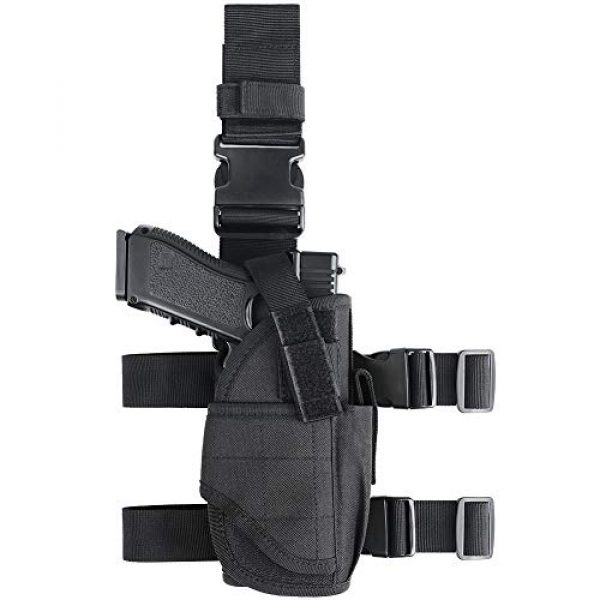 XAegis  1 XAegis Drop Leg Holster for Pistols Tactical Thigh Rig Gun Holster with Magazine Pouch Adjustable Right Handed