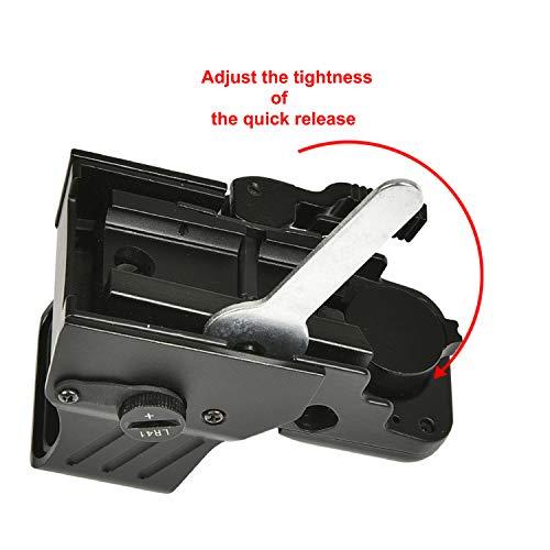 MidTen Airsoft Gun Sight 5 MidTen 1X22X32 Red Green Dot Sight 4 Reticles Reflex Sight Quick Detach Mount 20mm Rail