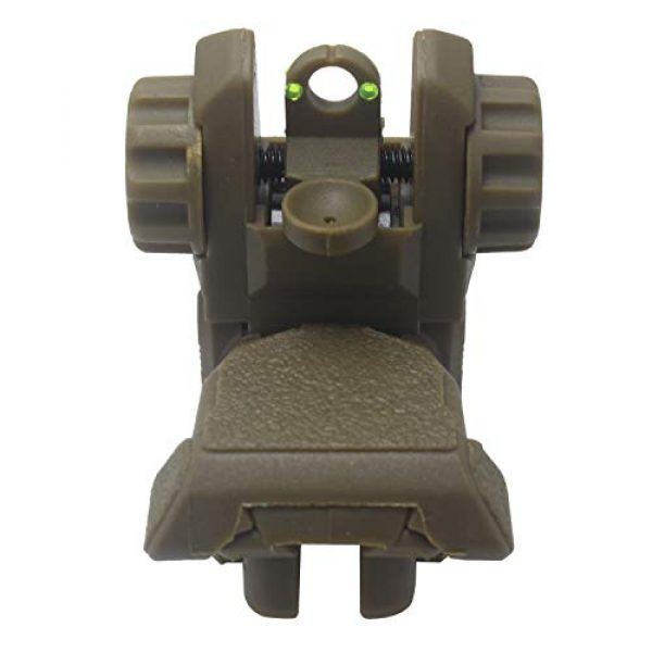 AWOTAC Airsoft Gun Sight 4 AWOTAC Polymer Fiber Optics Iron Sights Flip-up Front and Rear Sights with Red and Green Dots Fit Picatinny Weaver Rails