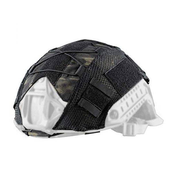OneTigris Airsoft Helmet 1 OneTigris Multicam Helmet Cover - No Helmet (ZKB06 for Ballistic Fast Helmet in Size L & Fast PJ Helmet in Size L/XL - Multicam Black)