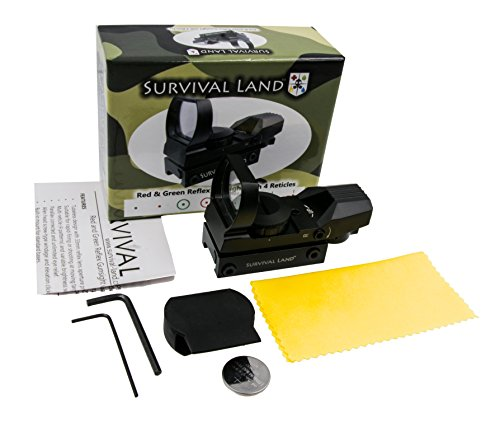 Survival Land Airsoft Gun Sight 3 Survival Land Z-12 Advanced Targeting Reflex Sight with 4 Selectable Illuminated Red or Green Target Reticle - Great for Hunting