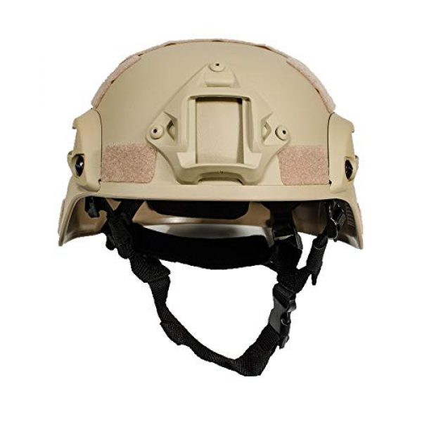 iMeshbean Airsoft Helmet 2 iMeshbean MICH 2000 Style ACH Tactical Helmet with NVG Mount and Side Rail Adjustable Sponge Padding Adjustable Suspender Straps