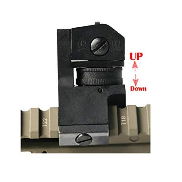 IORMAN Airsoft Gun Sight 3 IORMAN Ultralight Big Tactical 45 Degree Front and Rear 45 Degree Rapid Transition Sight Set Backup Offset Sights
