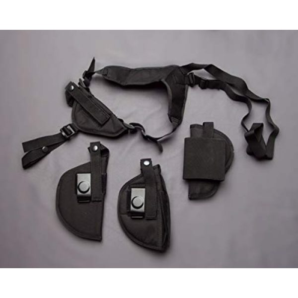 "Wyoming Holster  4 Gun Holster Buy 1 get 3 Free Shoulder/Concealed/Hip/Ankle FITS Ruger Security-9 9MM Luger 4"" Barrel MOSSBERG MC 2 S&W SW9VE 5900 Glock 17 19 22 23 30 32 G44 FN509 FXN 9MM Walther CCP M2 PK 380 5"