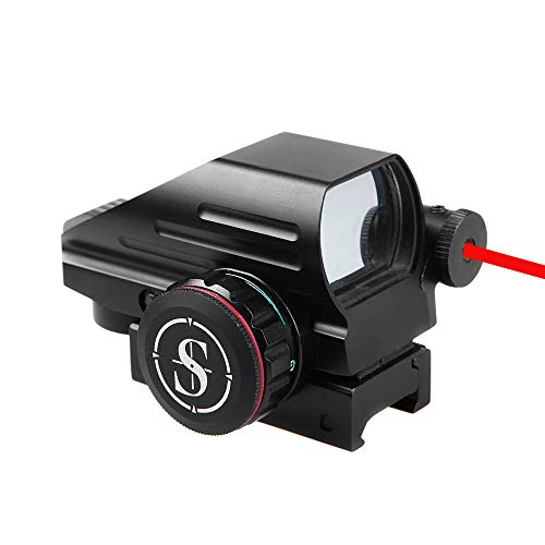 Sniper Airsoft Gun Sight 1 Sniper RD22LR Holographic Reflex Sight with 4 Reticles Red and Green Dot with Red Laser