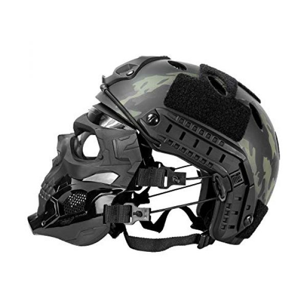 Black Orca Airsoft Mask 7 Black Orca Skull Full-Face Mask for Airsoft Helmet