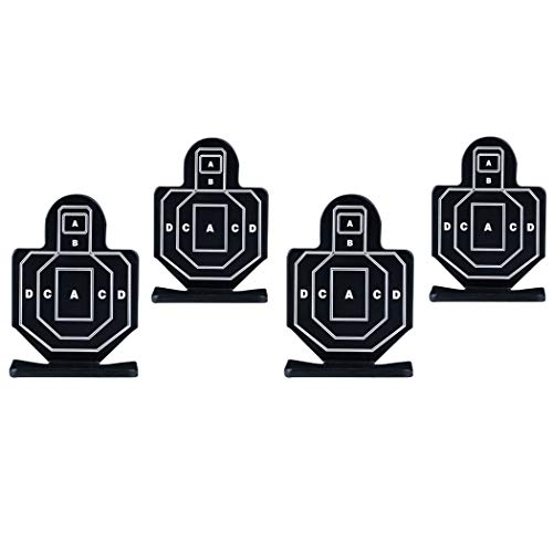Aoutacc Airsoft Target 4 Aoutacc 4 Pcs Steel Brave Warrior Targets
