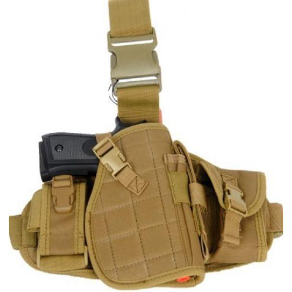 Lancer Tactical  1 Lancer Tactical MOLLE Platform Drop Leg Airsoft Gun Holster - CA-324 series (TAN)