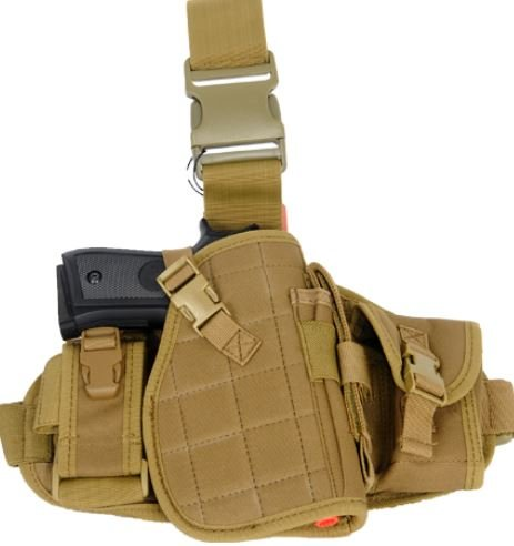 Lancer Tactical  1 Lancer Tactical MOLLE Platform Drop Leg Airsoft Gun Holster - CA-324 series (TAN)