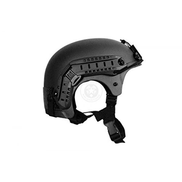 G-Force Tactical IBH Airsoft Helmet 3 G-Force Tactical IBH Airsoft Helmet w/ NVG Shroud & Side Rails - BLACK