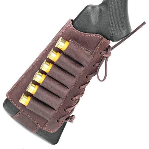 Free2Buy  1 Free2Buy Shotgun Shell Holder Adjustable Hunting Buttstock Cartridge Ammo Holder for Rifles 12 16 Gauge Ammo Pouch Bag Stock