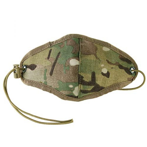 TCMAO Airsoft Mask 6 Reusable Activated Dustproof Safety Tactical Face Cover Cordura Military Anti Cold Sports Airsoft Bicycle Mountain Riding Face Covering Shiled