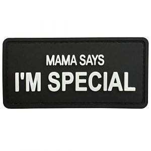 "LIVABIT Airsoft Patch 1 LIVABIT PVC Morale Patch 3D Airsoft Mama Says I'm Special Patch Tactical Badge Hook 3.25"" x 1.5"" MP-77"