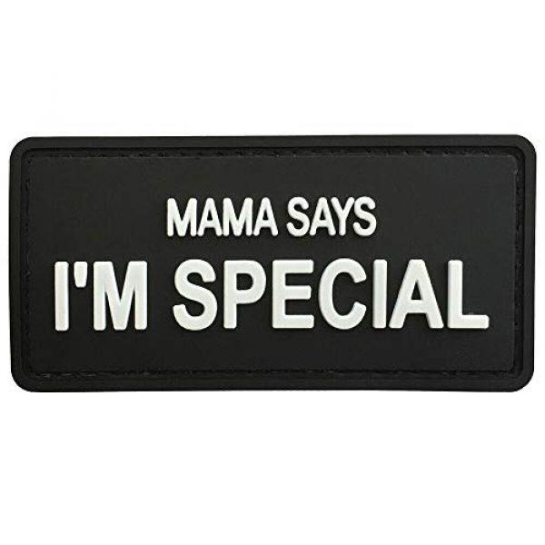 """LIVABIT Airsoft Morale Patch 1 LIVABIT PVC Morale Patch 3D Airsoft Mama Says I'm Special Patch Tactical Badge Hook 3.25"""" x 1.5"""" MP-77"""