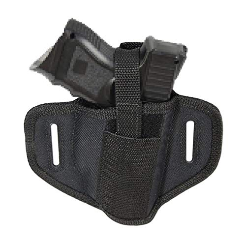 FIRECLUB  3 FIRECLUB Tactical Molle 6 Position Ambidextrous Concealment Holster for Compact Subcompact Waist Handguns Concealed Belt Holster for Right Left Hand Draw Black