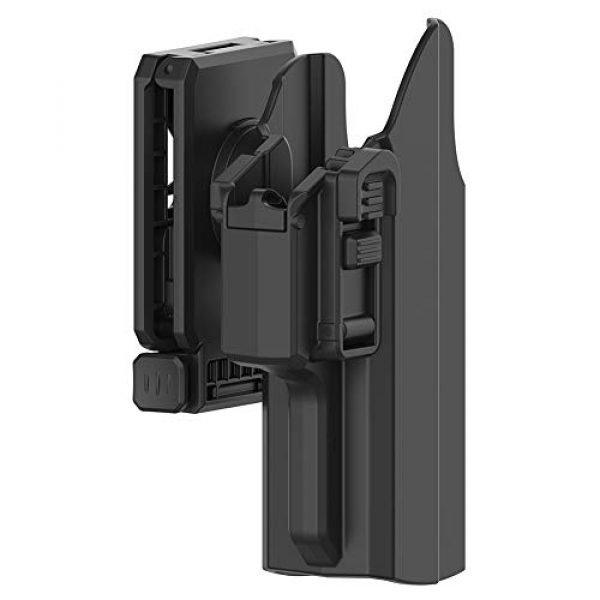 PISOLHO  2 PISOLHO Universal OWB Holster Glock 17 19 19X 45 Outside Waistband Belt Holster Fits S&W M&P 9MM Springfield XD Beretta 92fs Full Size Pistols 360° Adjustable Draw Angle Tactical Holster