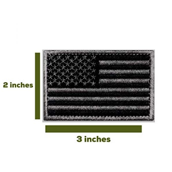 Ever Craft Airsoft Morale Patch 2 Ever Craft Morale American Flag Patch - Heavy Duty for Tactical Gear or USA Military Uniform - Premium Hook and Loop Tactical Patches for Backpacks Caps Hats Jackets Pants (Black & Gray)