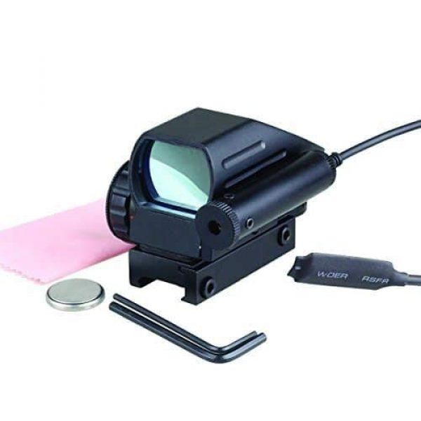 Sniper Airsoft Gun Sight 3 Sniper RD22LR Holographic Reflex Sight with 4 Reticles Red and Green Dot with Red Laser