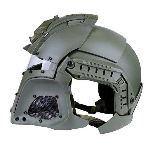 Brave outdoor Airsoft Helmet 2 Tactical Helmet Protection Fast Helmet Full Face Mesh Goggles for Airgun Paintball Mask CS Outdoor Activities Military Movie