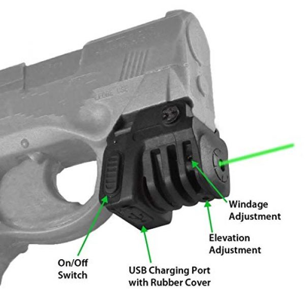 Red Iron Tactical Airsoft Gun Sight 2 Red Iron Tactical Green Dot Laser Sight for Handguns Rifle Pistol