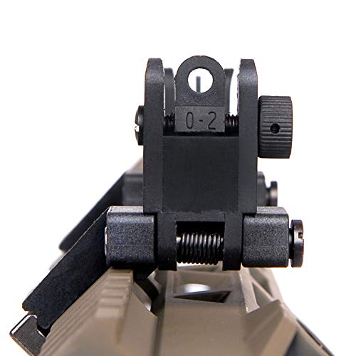 IORMAN Airsoft Gun Sight 3 IORMAN Ultralight Flip Up Sight 45 Degree Offset Rapid Transition Front and Backup Rear Sight