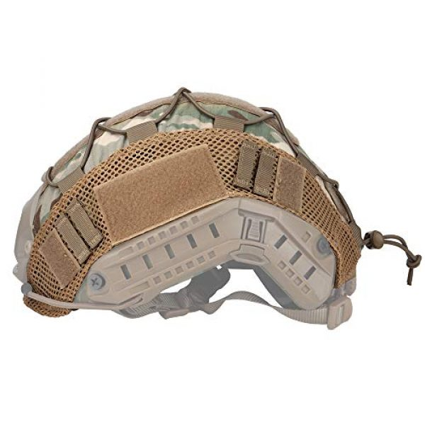 LANZON Airsoft Helmet 4 LANZON Tactical Multicam Helmet Cover for Fast Style Helmets (The Helmet is NOT Included)
