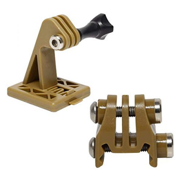Aoutacc Airsoft Helmet 1 Rail Mounts or Helmet Excavator Mounts Bracket Adapter for Picatinny Rails GoPro Action Camera