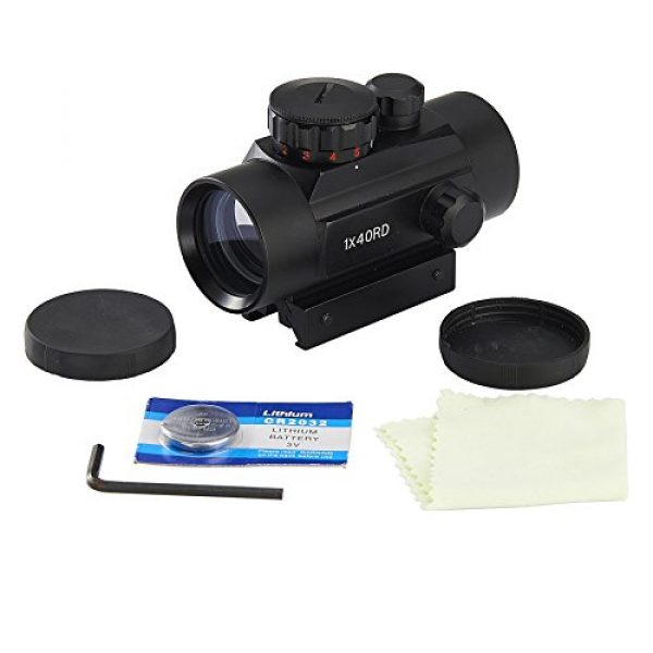 Pinty Airsoft Gun Sight 6 Pinty Tactical 1x30mm Reflex Red Green Dot Sight Riflescope with Free 20mm Mount Rails