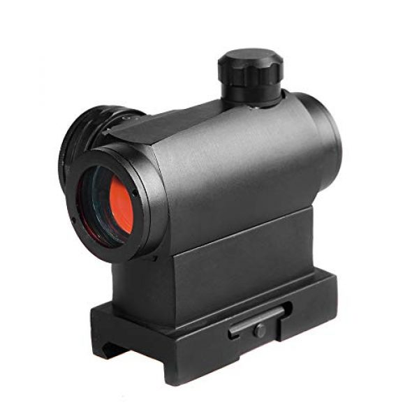 Sniper Airsoft Gun Sight 5 Sniper RD20H Reflex Red Dot Sight Scope 3 MOA with High Profile Rail Mount Fit Picatinny Rail