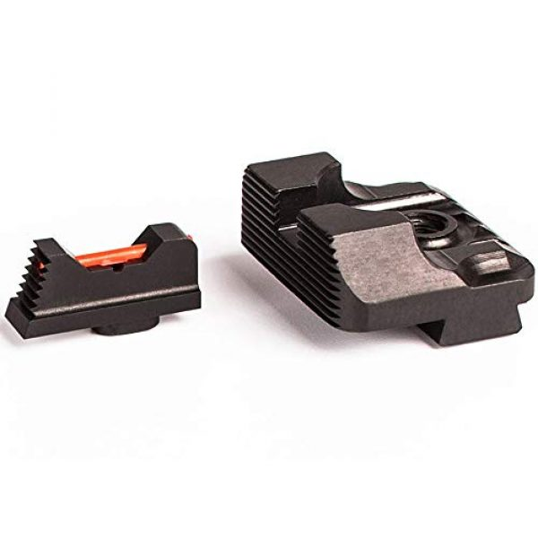 Higoo Airsoft Gun Sight 2 Higoo Tactical Fiber Optic Handgun Pistol Sight Front/Rear Set for Glock