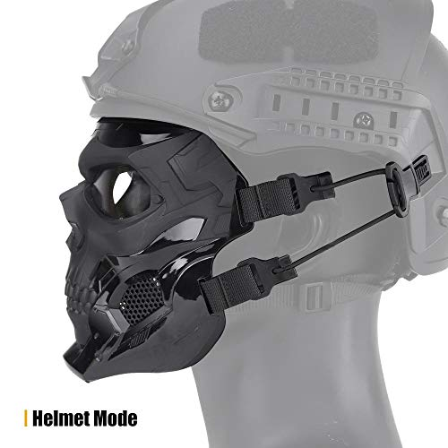 Dumcuw Airsoft Mask 2 Dumcuw Halloween Skeleton Airsoft Mask