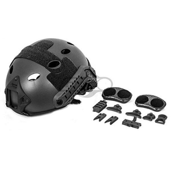 Lancer Tactical Airsoft Helmet 7 Lancer Tactical Airsoft Tactical PJ Type Helmet LRG/XL - Black