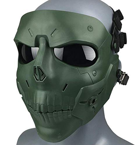 JFFCESTORE Airsoft Mask 1 JFFCESTORE Tactical Mask Anti-Fog Airsoft Paintball mask Protective Full Face Clear Lens Skull mask Dual Mode Wearing Design Adjustable Strap One Size fit Most