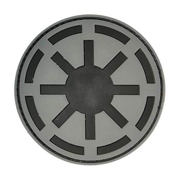 Morton Home Airsoft Patch 1 Morton Home Republic Galactic Empire Logo Army GITD Tactical Morale Airsoft 3D PVC Rubber Patch(Black)
