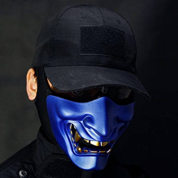 Unknown Airsoft Mask 3 Halloween Costume Cosplay BB Gun Demon Half Face Protective Mask Masquerade