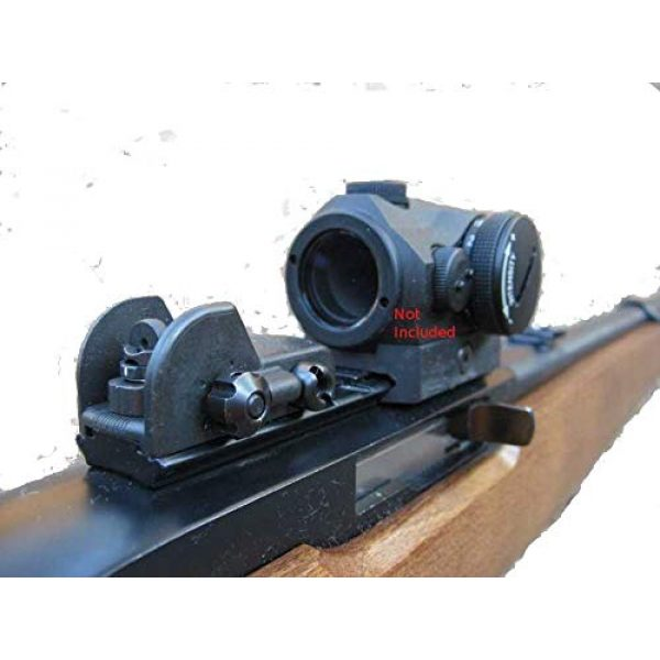 """Tech SIGHT Airsoft Gun Sight 2 Tech SIGHT TSR200RL Adjustable Aperture Sight for The Ruger 10/22 Rifle with a 3/8"""" Rail"""