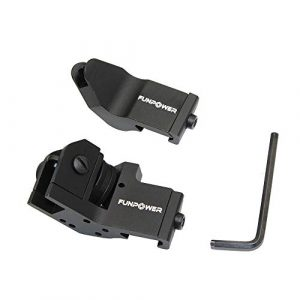 Funpower Airsoft Gun Sight 1 Funpower 45 Degree Offset Front and Rear Backup Iron Picatinny Sight Set