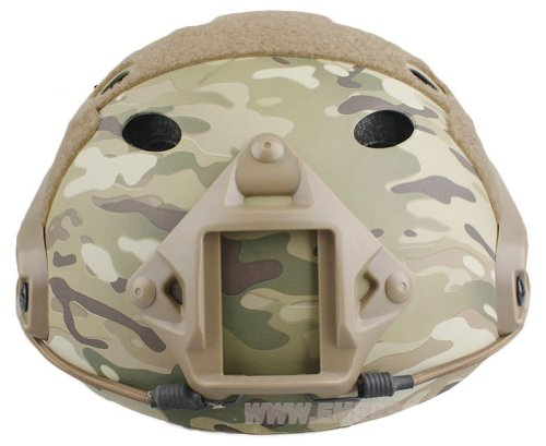 ATAIRSOFT Airsoft Helmet 2 ATAIRSOFT PJ Type Tactical Fast Helmet w/Protective Goggles Version Multicam
