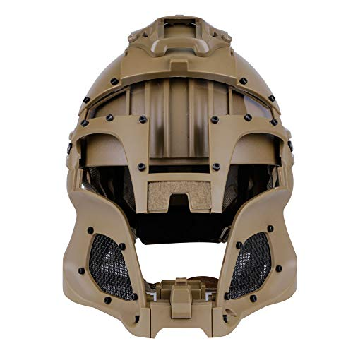 LEJUNJIE Airsoft Helmet 6 LEJUNJIE Tactical Military Ballistic Helmet Side Rail NVG Shroud Transfer Base Army Combat Airsoft Paintball Full Face Mask Helmet