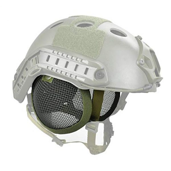 JFFCESTORE Airsoft Helmet 1 Tactical Airsoft Military Paintball Metal Mesh Side Cover with Ear Protection for FAST Helmet (Not including helmet)