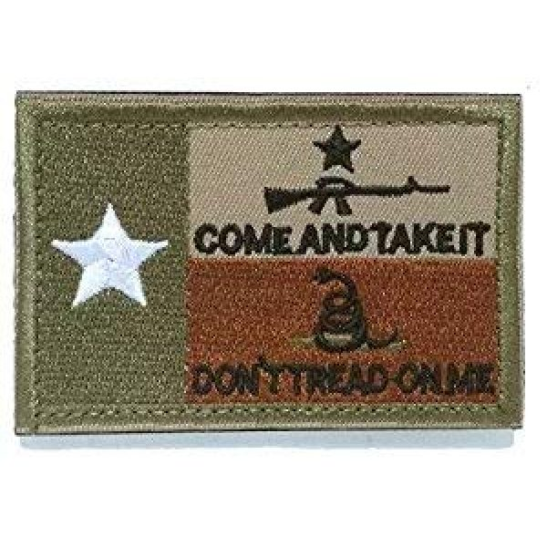 Homiego Airsoft Patch 7 Homiego Texas State Flag Military Tactical Morale Desert Badge Hook & Loop Embroidery Patch for Hat Backpack Jacket (Texas State Flag - B)