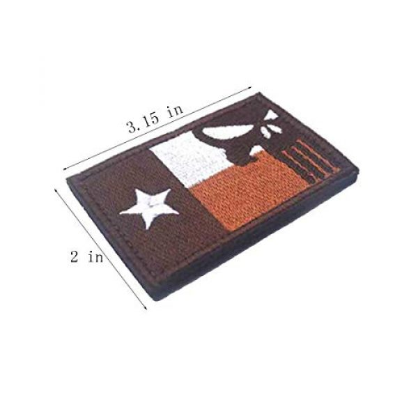 Homiego Airsoft Patch 2 Homiego Texas State Flag Military Tactical Morale Desert Badge Hook & Loop Embroidery Patch for Hat Backpack Jacket (Texas State Flag - B)