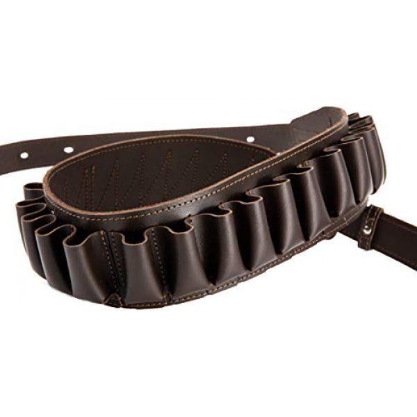 CKG  6 Genuine Leather Shotgun Cartridge Belt 12/16 Gauge - Tactical Shooting Gun Bullet Waist Belt - Ammo Holder Combat Hunting - 24 Shell Holder-Brown Color
