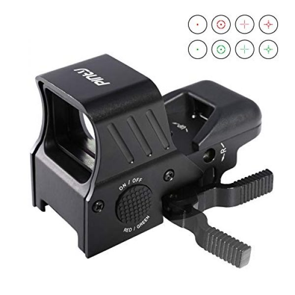Pinty Airsoft Gun Sight 1 Pinty 1x22x33 Reflex Sight Red Dot Sight with 4 Reticles