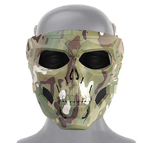 NINAT Airsoft Mask 1 NINAT Airsoft Masks Full Face Skull Tactical Mask with PC Lens Eye Protection for CS Survival Games BBS Gun Shooting Halloween Cosplay Movie Props Scary Masks