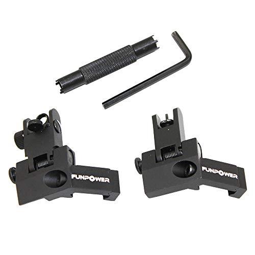 Funpower Airsoft Gun Sight 1 Funpower 45 Degree Offset Flip Up Iron Sights for Rifle
