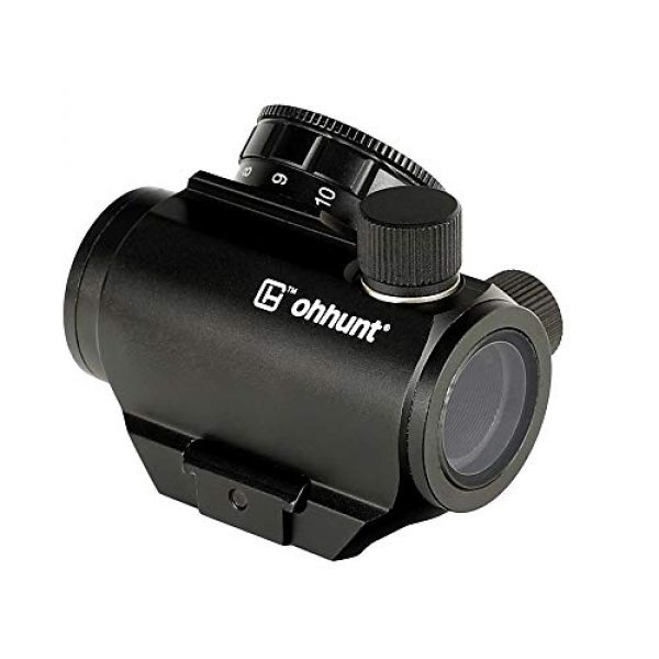 ohhunt Airsoft Gun Sight 4 ohhunt 1X25mm 3 MOA Red Dot Sight Low Power Compact Red Dot Scope 20mm Weaver Picatinny Mount