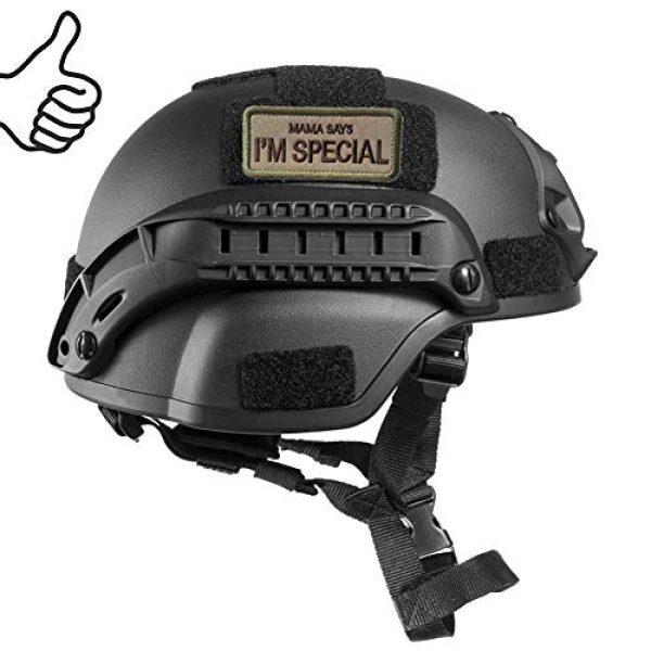 WindCar Airsoft Morale Patch 3 WindCar Tactical Morale Military Patches 2 pcs Funny Emblem Badge Mama Says I'm Special (2 pcs - Mama Says I'm Special)