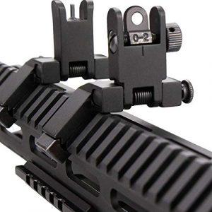 KINBON Airsoft Gun Sight 1 KINBON Flip Up 45 Degree Offset Sights Set