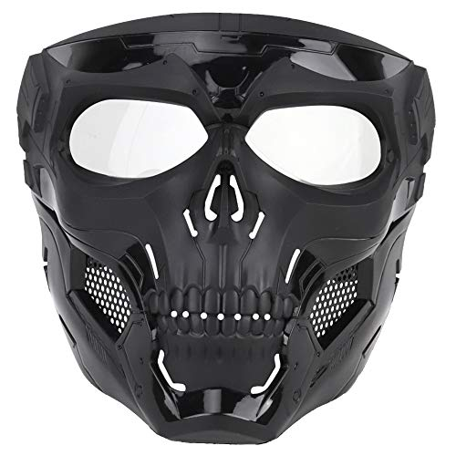 ATAIRSOFT Airsoft Mask 2 ATAIRSOFT Tactical Protective Adjustable Skull Full Face Mask for Airsoft Paintball Cosplay Costume Party Hockey